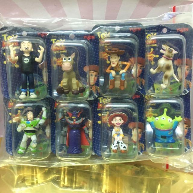 絕版扭蛋 Yujin 迪士尼 Pixar 玩具總動員 Toy Story 角色小吊卡  全套八款  全新未拆
