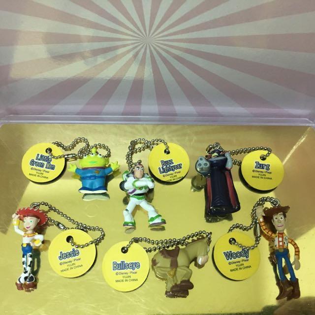 絕版扭蛋 Yujin 玩具總動員 ToyStory 珠鏈 吊飾 全套六款