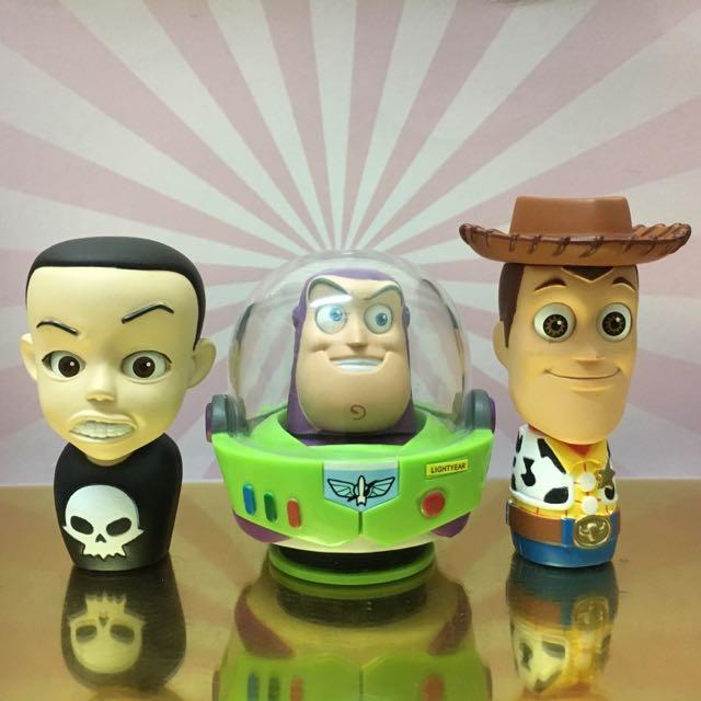 絕版扭蛋 Yujin 玩具總動員 ToyStory 轉眼公仔 頭像 全套六款