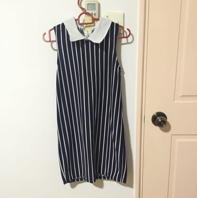 Collared Blue Stripe Dress