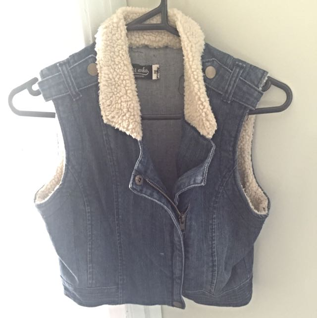 Denim & Wool Vest
