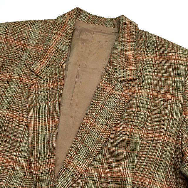 《gooddo•古著》清倉特價💫日本復古格子西裝外套