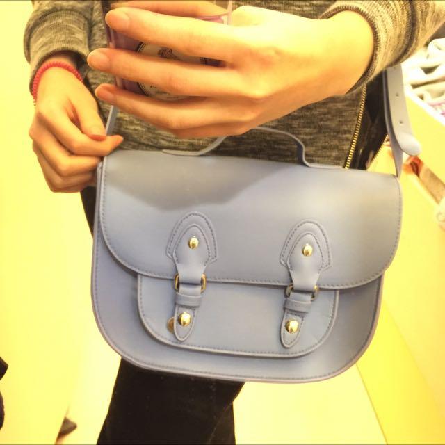 全新!H&M 粉紫色 牛津包