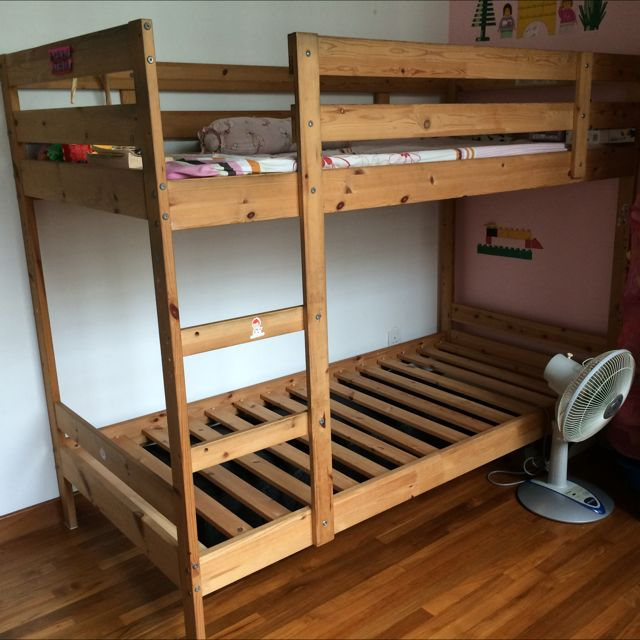 Ikea Birch Bunk Bed Furniture On Carousell