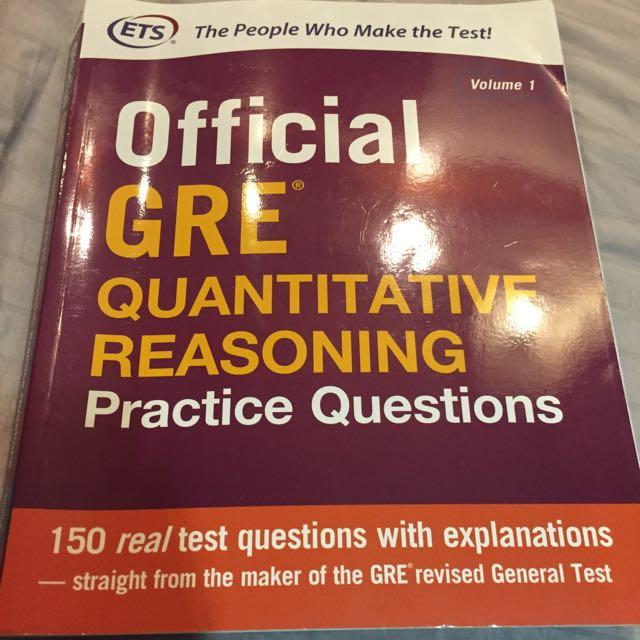 Official GRE quantitative reasoning practice qns, Books