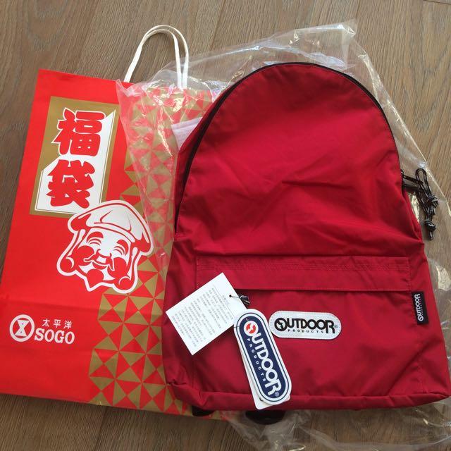 降價)保證全新正品Outdoor紅色16L後背包