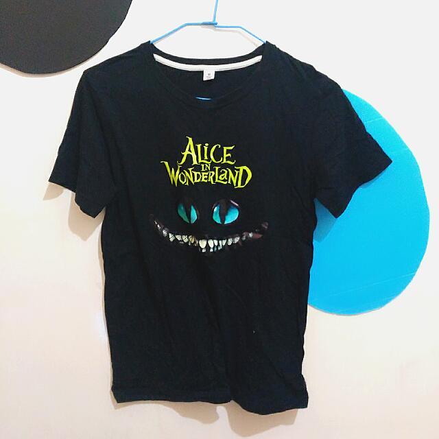 愛麗絲裂嘴貓/公牛黑t