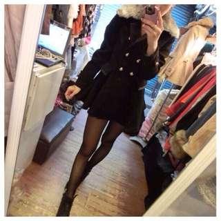 🎀毛領 黑色。大衣外套