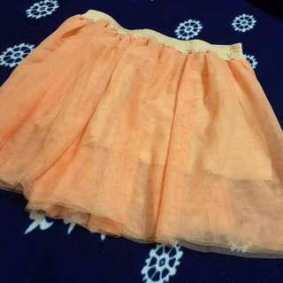 日本橘粉色短紗裙