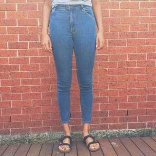 Rolla's Westcoast Super Skinny Mid Rise Jeans