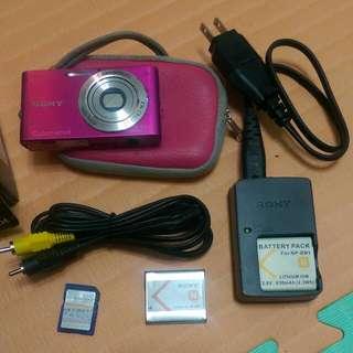 Sony 索尼 美肌 數位相機 DSC-W320 玫瑰粉
