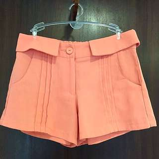 Orange Stretchable Shorts