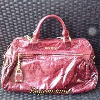 REDUCED! Authentic Miu Miu Nappa Charm Bag