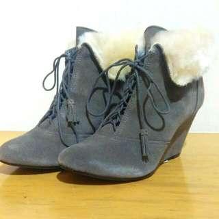 【降】韓系麂皮刷毛短靴