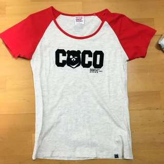 Caco黑熊 T恤 短