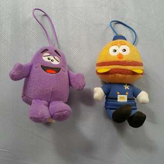 Grimace and Officer Big Mac (MacDonalds toys)