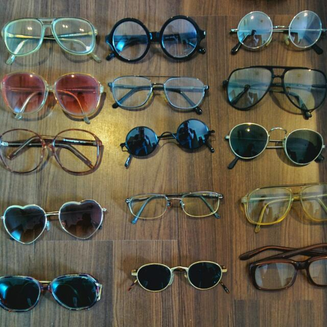 17 X Vintage Glasses/ Sunglasses