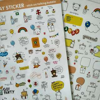 Happy Day Korean Stickers
