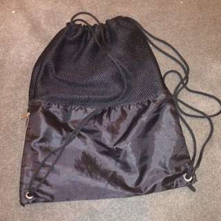 Black Draw String Bag/Backpack