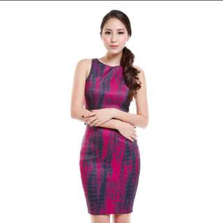 🚚 TVD Kardashian Textured Bodycon In Magenta
