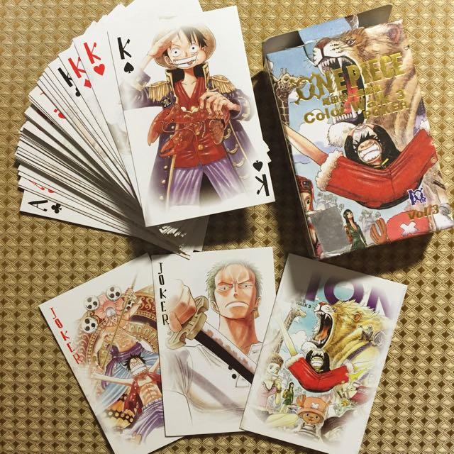 海賊王 畫集撲克牌😍