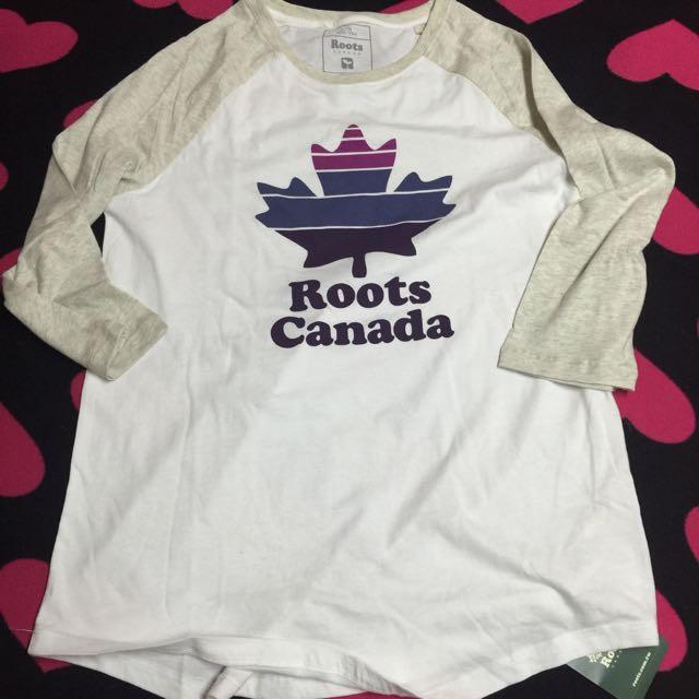 全新 加拿大 ROOTS 新款 七分袖薄T