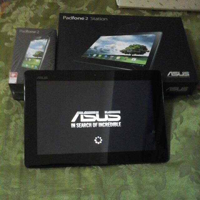 Asus Padfone 2手机+平板64g附原廠手机盒平板盒