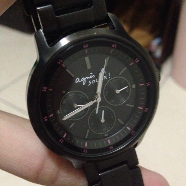 小b錶 BT5001P1  /agnes b錶  agnes b手錶 二手轉賣「手繪Solar太陽能系列腕錶」agnes b agnes b. agnes b agne.s b