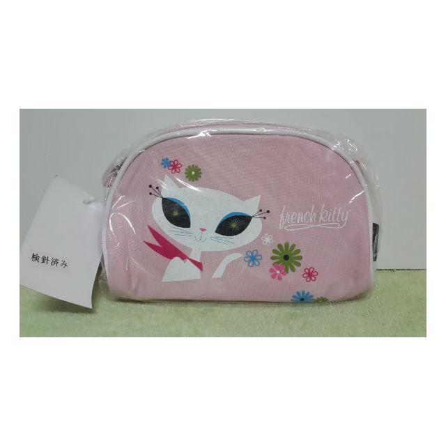 french kitty法國貓筆袋化妝包收納包 萬用包 零錢包相機包 行動電源收納袋