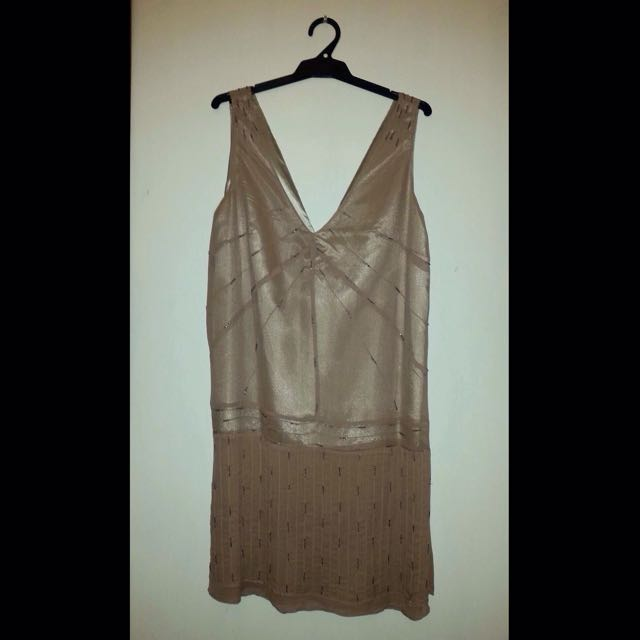 Gatsby 1920s Style Silk Shift Dress