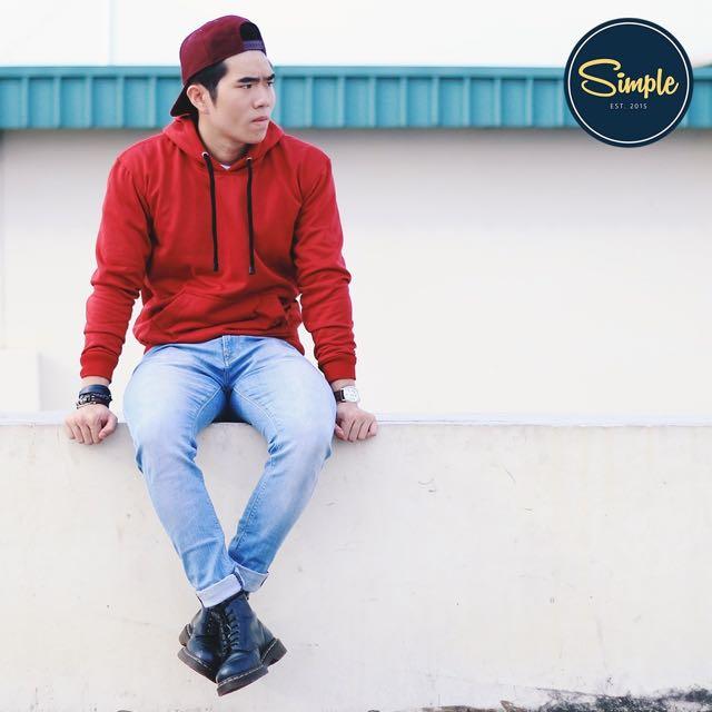 Hoodie Jumper Merah