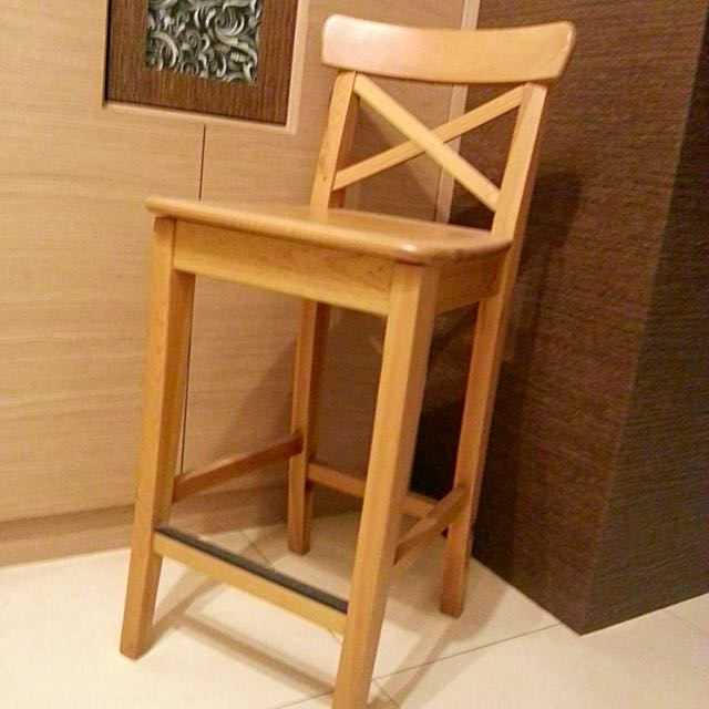IKEA 實木高腳椅