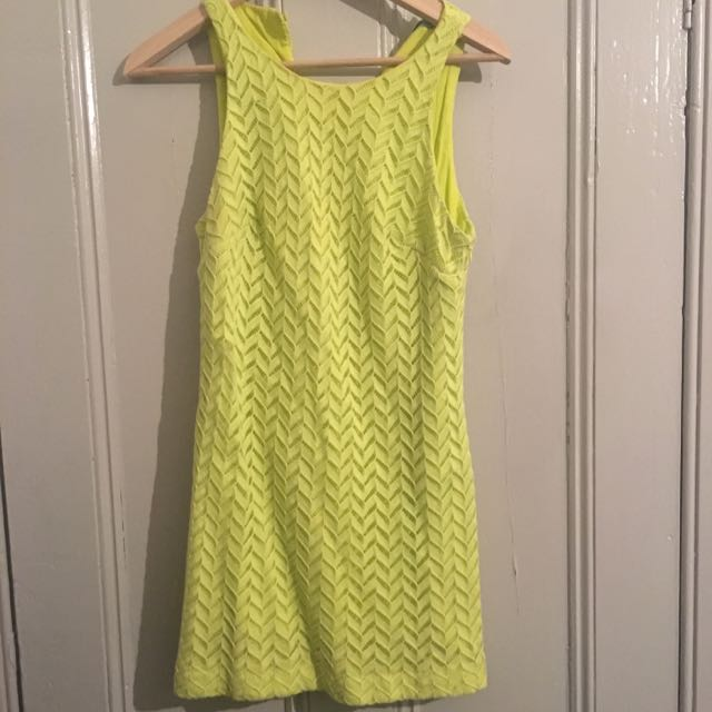 Kookai Lime Yellow Dress Size 38