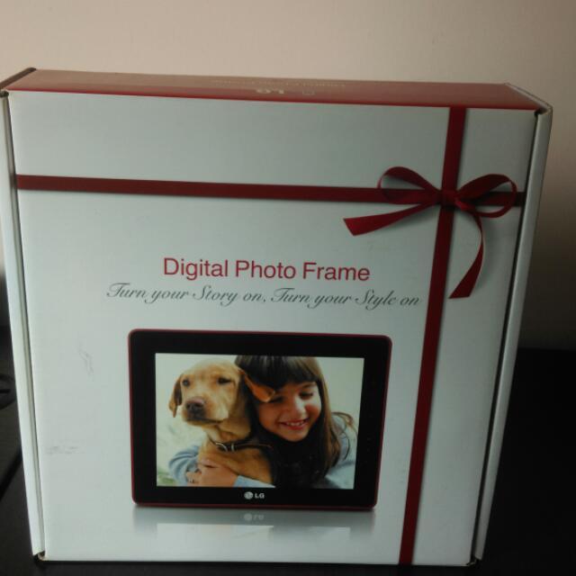 LG DIGITAL PHOTO FRAME WITH 2GB INTERNAL MEMORY F7010S-PN (NEW ...