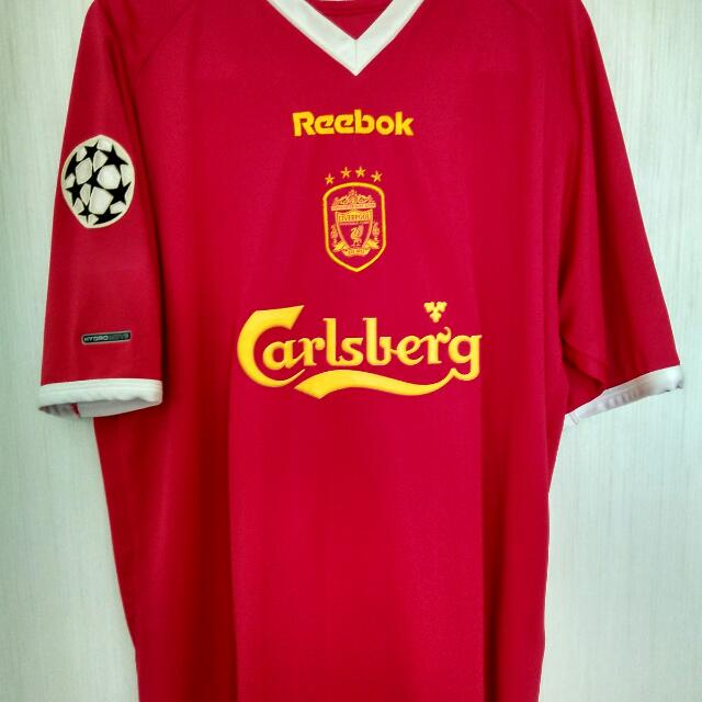 best service 62ab2 d23b5 Liverpool Champions League Home Kit with Michael Owen name ...
