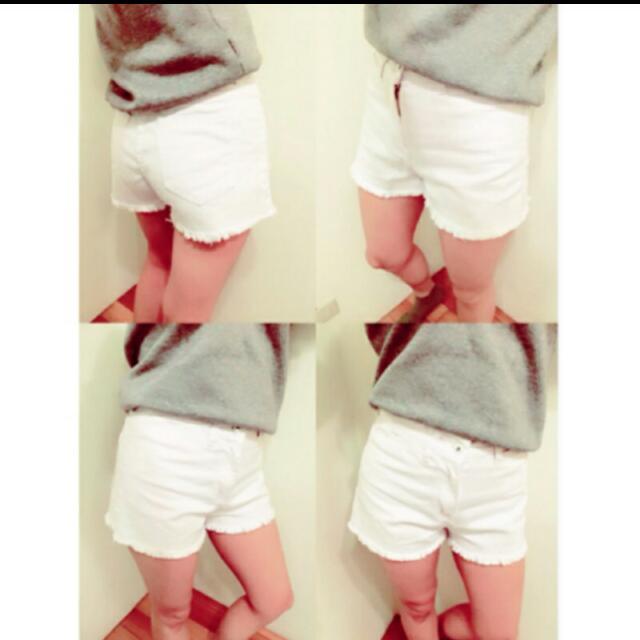 白色短褲m號