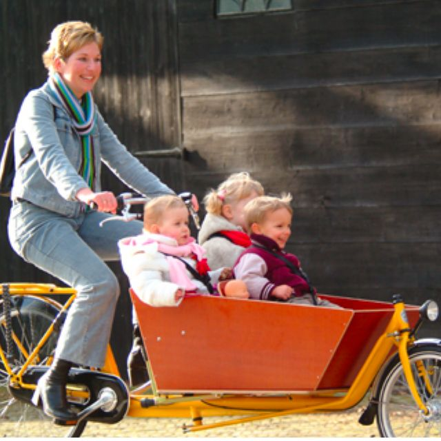 Original Dutch Bakfiets Cargo Bike With Electric Assist Sports On
