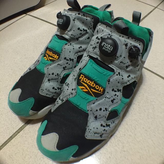 (超便宜!)(二手)reebok Pomp Fury US9號 薄荷巧克力 蒂芬妮綠 氣墊 鞋