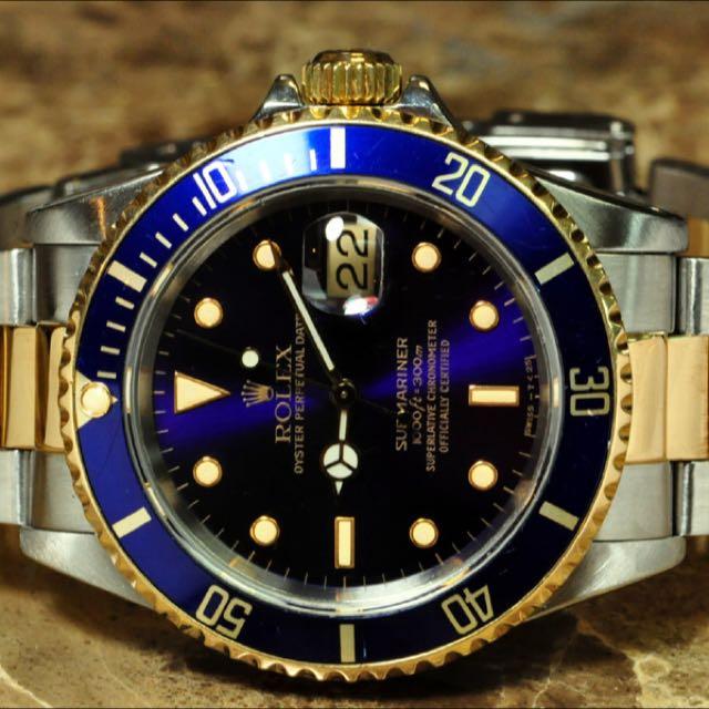 Rolex Submariner Blue Steel Gold