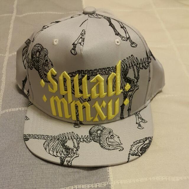 (新品含運)SQUAD 2015 螢光繡字羊骨帽