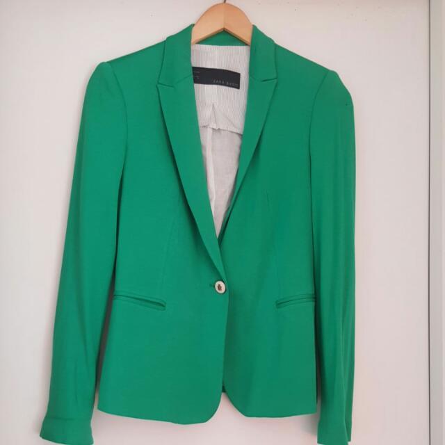 UNWORN ZARA BLAZER Green Size S