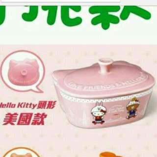 7-11 Hello Kitty x LINE 共度美好食光 陶瓷大烤皿 kitty款