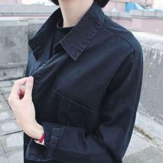 PER 挺版黑色長襯衫