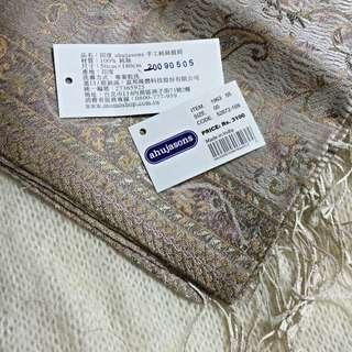 🎁交換禮物🎁ahujasons 印度製 手工100%純絲披肩