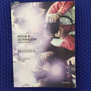 Media And Journalism Second Edition