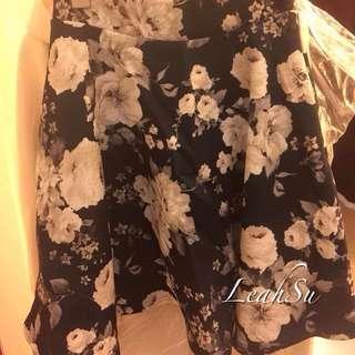 (斷貨)日貨連線One way 浪漫白玫瑰短裙