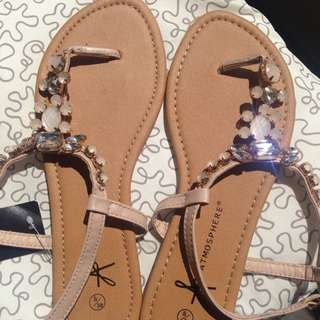Embellished Sandals/Thongs- New!