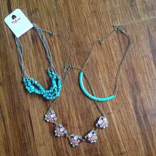 3 Fashion Necklaces