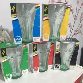 Limited edition 2008 Beijing Olympic Coke Glass. Complete set