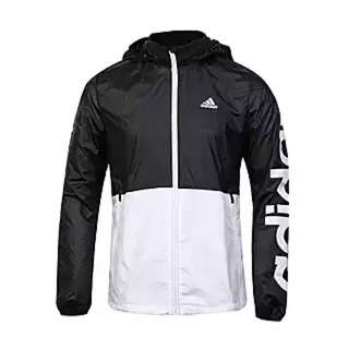 Adidas 風衣外套 黑白 拼接